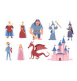 set eight characters for fairy tales vector image vector image