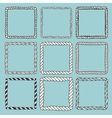 Set of 9 decorative square border frames vector image