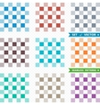 Set of patterns with squares vector image vector image