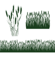silhouettes of spikelets vector image vector image