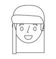 smiling young face girl cartoon female vector image vector image