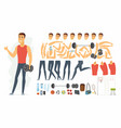 sportsman - cartoon people character vector image