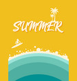 summer on beach abstract vintage retro poster vector image
