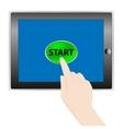 Tablet Start vector image