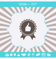 thumb up gesture - label with ribbons t the vector image