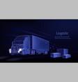 truck abstract 3d heavy lorry van vector image