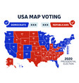 usa presidential election results map map vector image vector image