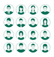 user account avatar user portrait icon set man vector image vector image