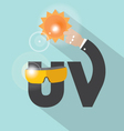 UV Typography Design vector image vector image