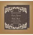 wedding invitation dark vector image vector image
