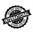 world best service stamp with distress style vector image vector image