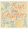 Yacht Charter text background wordcloud concept vector image vector image