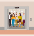 young people dressed in trendy clothes standing in vector image vector image