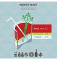 Bloody Mary cocktail flat style isometric vector image