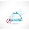 Ban food grunge icon vector image