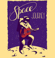 space journey poster vector image