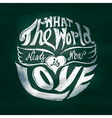 What the world needs now is love lettering art in vector image