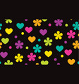 abstract polka dot tropical color floral pattern vector image