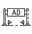 Ad banner icon outline style