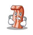 angry bacon mascot cartoon style vector image vector image