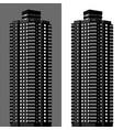 apartment block vector image