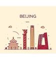 beijing skyline trendy linear