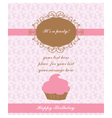 Birthday lace Card vector image vector image