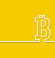 bitcoin sign vector image