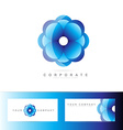 Blue flower corporate logo vector image vector image