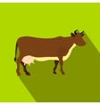 Brown cow flat icon vector image vector image