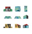building logo collection vector image