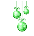 Christmas balls on white background vector image