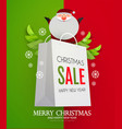 christmas sale design template with cute vector image vector image