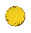 circle yellow grunge frames vector image vector image