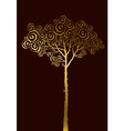 concept of gold pine silhouette vector image vector image