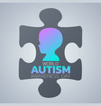 creative concept for world autism awareness day vector image vector image