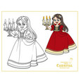 cute girl in carnival costume vampire vector image vector image