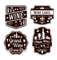 dark monochrome wine labels different shapes vector image vector image