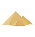 Egypt pyramids vector image