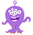 fantasy monster creature cartoon vector image vector image