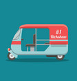 flat rickshaw vector image