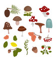 forest elements forest elements vector image vector image