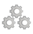 gears machinery pieces cartoon vector image vector image