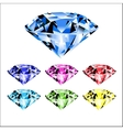 gems and diamonds vector image vector image