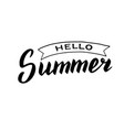 hand drawn hello summer poster trendy lettering vector image