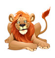 happy lion smiling vector image