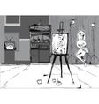 In Artist Studio vector image vector image