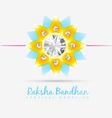 indian rakshabandhan background vector image vector image