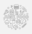junk food round unhealthy vector image