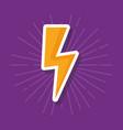 lightning icon image vector image
